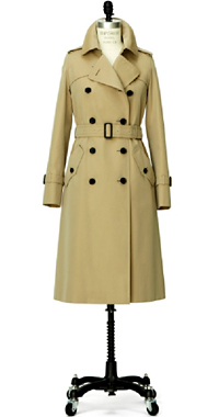 WOMENS LONG TRENCH COAT