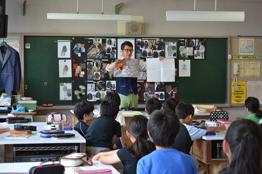 2014年 服育授業@駒本小学校